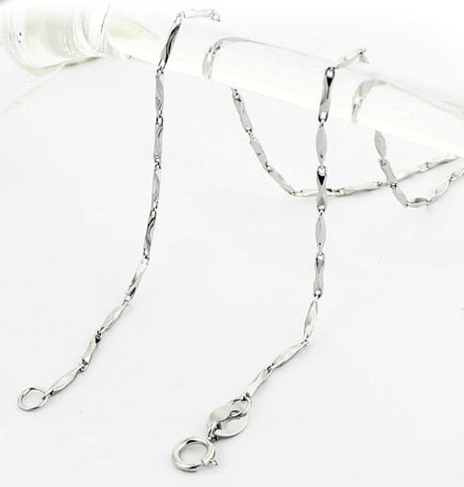 SaySure - 925 Sterling Silver necklace 1MM sycee chain for women men