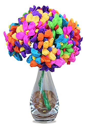 Leos Imports (TM Mexican Paper Flowers Teresita Bouquet Bunch 60 Flowers -