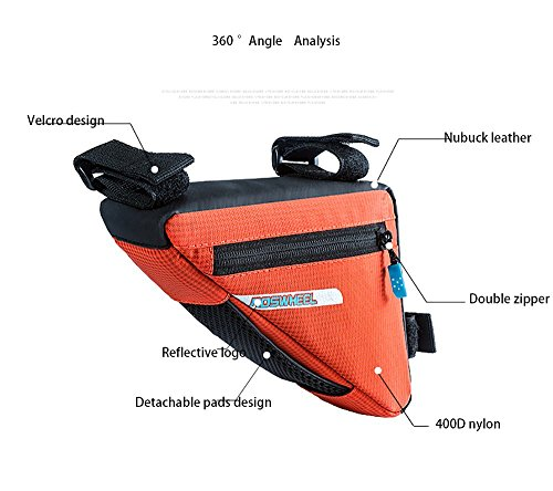 BicycleStore Waterproof Nylon BicycleTriangle Bags,Bike Front Frame Tube Bags for Outdoors