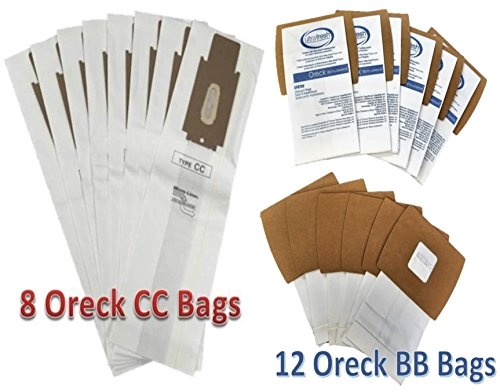 Oreck XL Supply Kit 8 Type CC Upright + 12 Buster B Canister