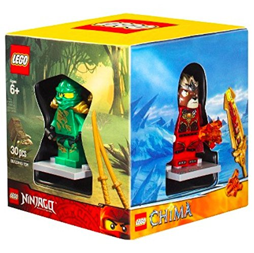 LEGO 4 Minifigures Boxed Gift Set - Chima, Superheroes, Ninjago and City Themes - Exclusive Boxed Set