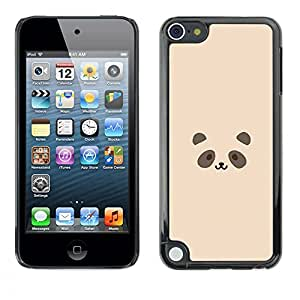 Jordan Colourful Shop - Cute Minimalist Panda Drawing For Apple iPod Touch 5 Custom black plastic Case Cover