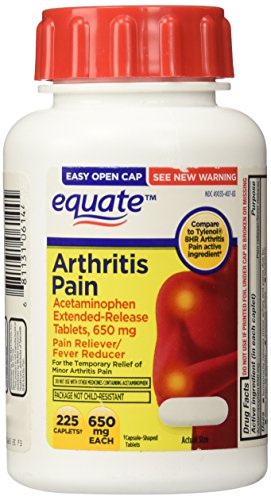 Equate Arthritis Pain Caplets 225ct 650mg, Compare to Tylenol Arthritis Pain -