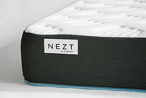 Nezt Element, Colchón Ortopédico De Memory Foam - Espumas Certificadas por CertiPUR-US® , Tamaño Matrimonial soporte firm