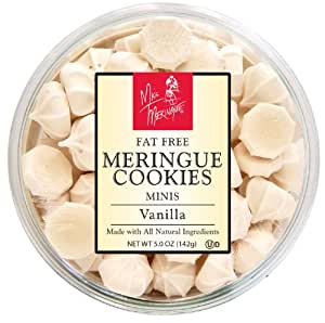 Miss Meringue Fat Free Vanilla Meringue Minis, 5-Ounce Containers (Pack of 4)