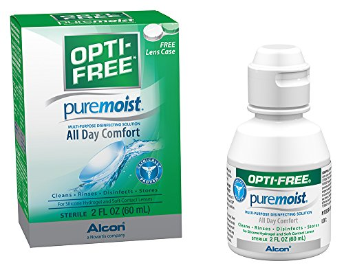 Opti-Free Puremoist Multi-Purpose Disinfecting Solution with Lens Case, 2-Ounces