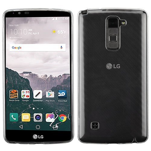 Cell Accessories For Less (TM) LG G Stylo 2 Plus MS550 - Glossy Transparent Clear Skin Case Cover Bundle (Stylus & Micro Cleaning Cloth) - By TheTargetBuys