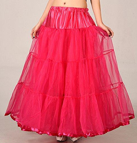 Las mujeres faldas tutú enaguas miriñaque enaguas Rosa Roja