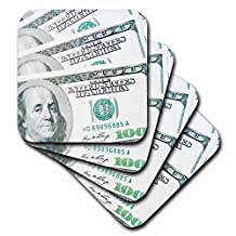 3dRose cst_73452_3 Us Money, Currency, $100 Bills-Co04 Rti0000-Rob Tilley-Ceramic Tile Coasters, Set of 4