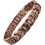 VITEROU Mens Magnetic Pure Copper Bracelet with High Power Magnets for Arthritis Pain Relief,3500 Gauss