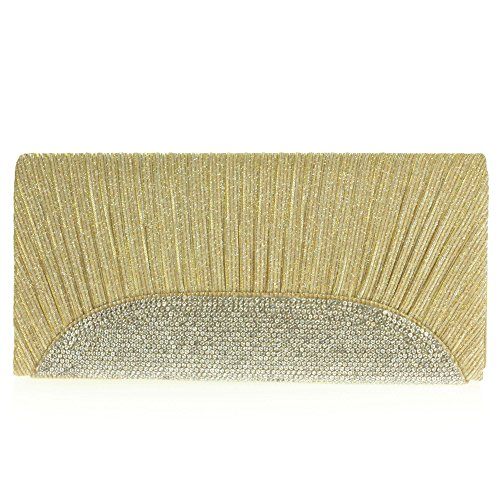 Clutch Wedding Sparkle Glitter Party Ladies Prom Women bag Gold Bridal Hand Evening xBX78qn