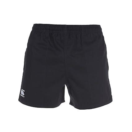 Canterbury Professional Rugby E523405 Pantalones Cortos, Uomo, Negro, 2XL