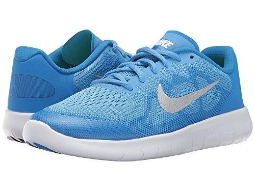 Nike Kids Free Rn (GS) Running Shoe (5.5 US M Big Kid, University Blue)