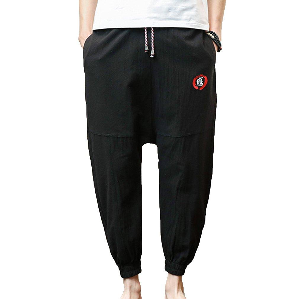 Asi/ático M-5XL Color Puro Yying Hombres Harem Pantalones Pantalones Casual Anchas