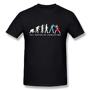 HM Men's T Shirts Evolution Of Boxer Black