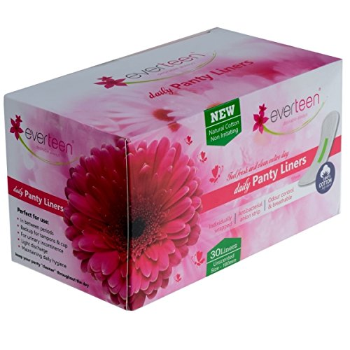 everteen® 100% Natural Cotton Daily Panty Liners (Box of 30pcs) Pantyliner (Pack of 1) product image