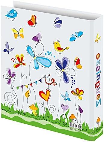 Zeugnismappe 10 H/üllen incl Zeugnisringbuch mit Schmetterlinge