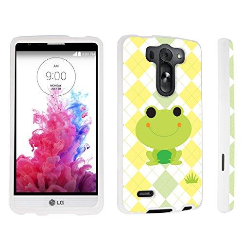 DuroCase ® LG G3 Vigor D725 / LG G3 Vigor LS885 / LG G3 Mini / LG G3 Beat / LG G3 S D722 Hard Case White - (Cute Frog) ()