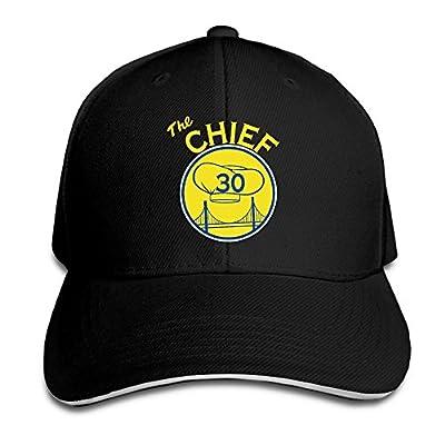 Curry 30 Chief Of Warriors Black Adjustable Flat Caps Unisex Sandwich Hats