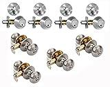 Dynasty Hardware CP-SIE-US15, Sierra Entry Door Knob Lockset and Single Cylinder Deadbolt Combination Set, Satin Nickel (4 Pack) Keyed Alike