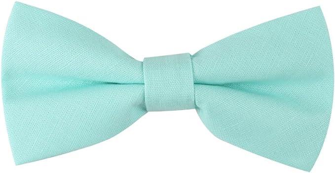 AUSCUFFLINKS Sonrojo aqua pajaritas lino corbatas | pajaritas de ...