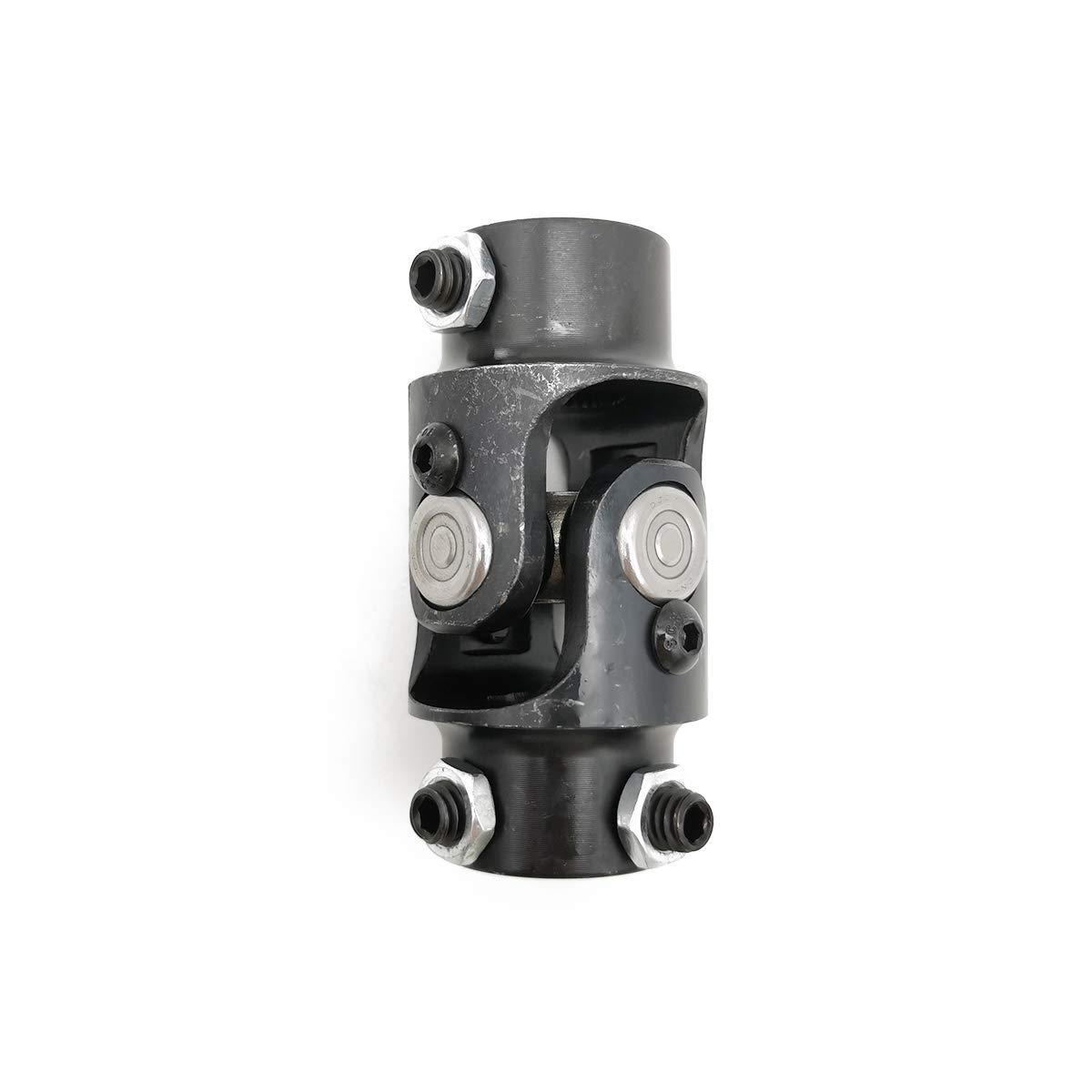 Maximum Working Angle: 35/° Degree Total Length: 83mm Ensun 3//4-36 Spline x 3//4 DD Black Single Steering Shaft Universal U Joint 3-1//4