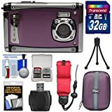 Bell & Howell Splash3 WP20 HD Shock & Waterproof Digital Camera (Purple) with 32GB Card + Case + Float Strap + Tripod Kit