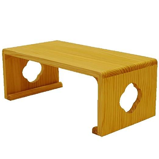 YANGLAN Mesa de Tatami de Madera Maciza Simple, Mesa de Comedor ...