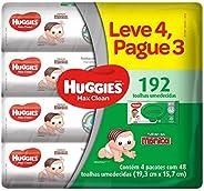 Huggies Lenços Umedecidos Max Clean, pacotes de 48x4 toalhas  - Leve 4 pague 3