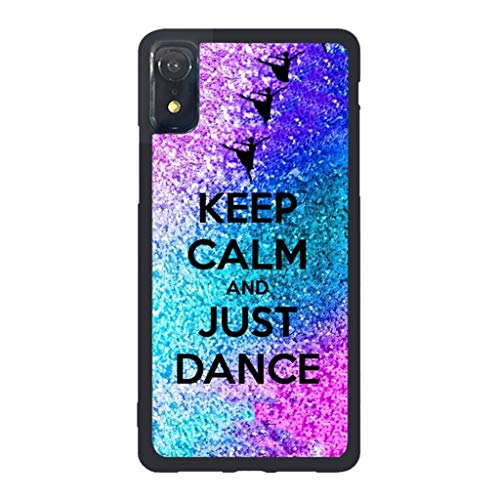 Girls's Case Compatible iPhone XR, Angvander Retro Keep Calm and Just Dance On Pattern Protective Case Compatible iPhone XR Tough Slim Funny Design Hard Case Compatible iPhone XR