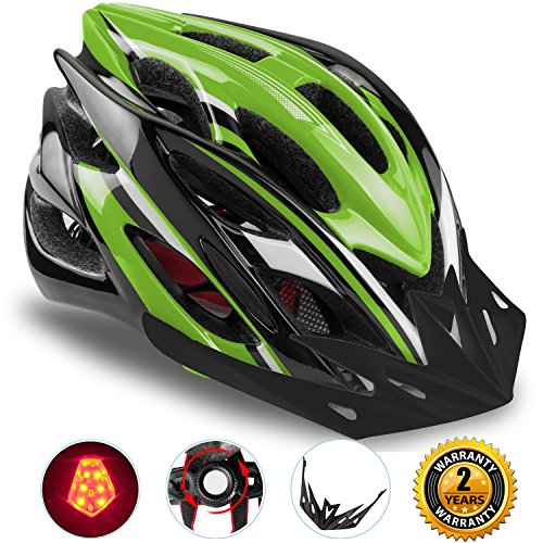 Basecamp Specialized Bike Helmet with Safety Light,Adjustable Sport Cycling Helmet Bicycle Helmets for Road & Mountain for Men & Women, Safety Protection