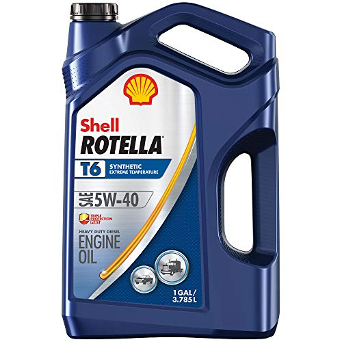 Shell Rotella T6 Full Synthetic 5W-40 Diesel Engine Oil (1-Gallon, Case of 3)