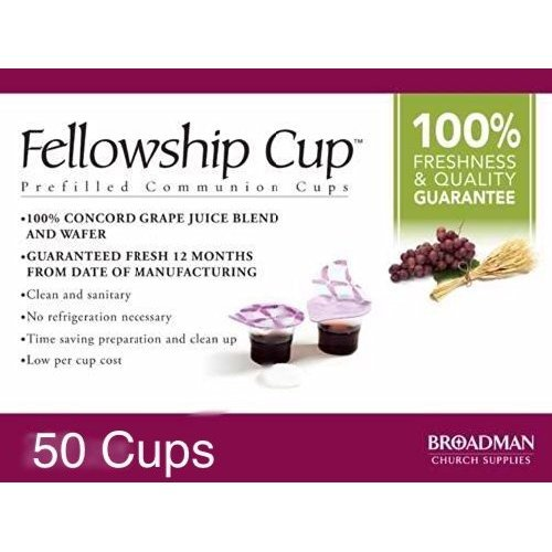 Fellowship cup, Prefilled communion cups juice/wafer-50 -