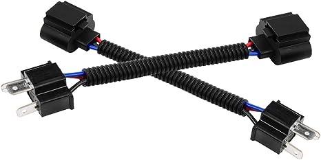Kimiss Auto Pigtail Kabeladapter 2 Stück H4 Stecker Auf H13 Buchse Auto Pigtail Kabelbaumadapter Auto