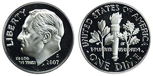 2007 S Roosevelt Proof Silver Dime 10c DCAM US Mint
