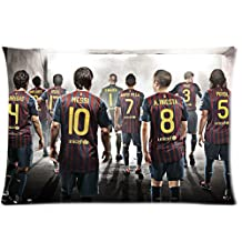 FC Barcelona Soccer Team Zippered Pillow Cases 20x30(Twin sides)