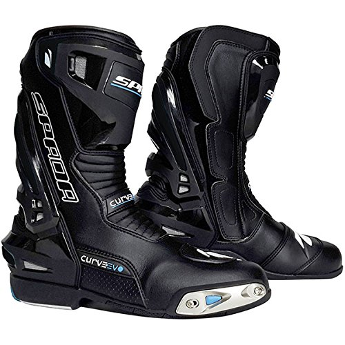 Spada Curve Evo WP Waterproof Leather Race Motorcycle Boots - Stealth Black 42 ()