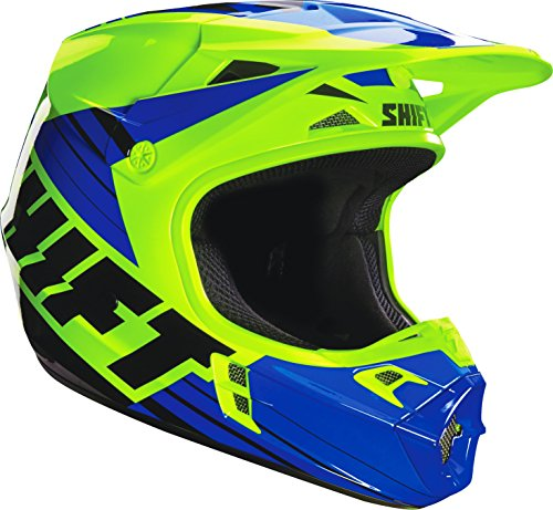 Shift Racing Assault Men's Off-Road Motorcycle Helmets - Yellow/Blue / (Assault Off Road Helmet)