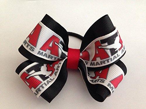 Ata Taekwondo Martial Arts Pony Tail Ribbon Bow By All Nice