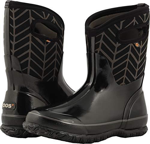 Bogs Women's Classic Printed NEO-TECH Snow Boot, mid Badge Black/Multi, 7 Medium US