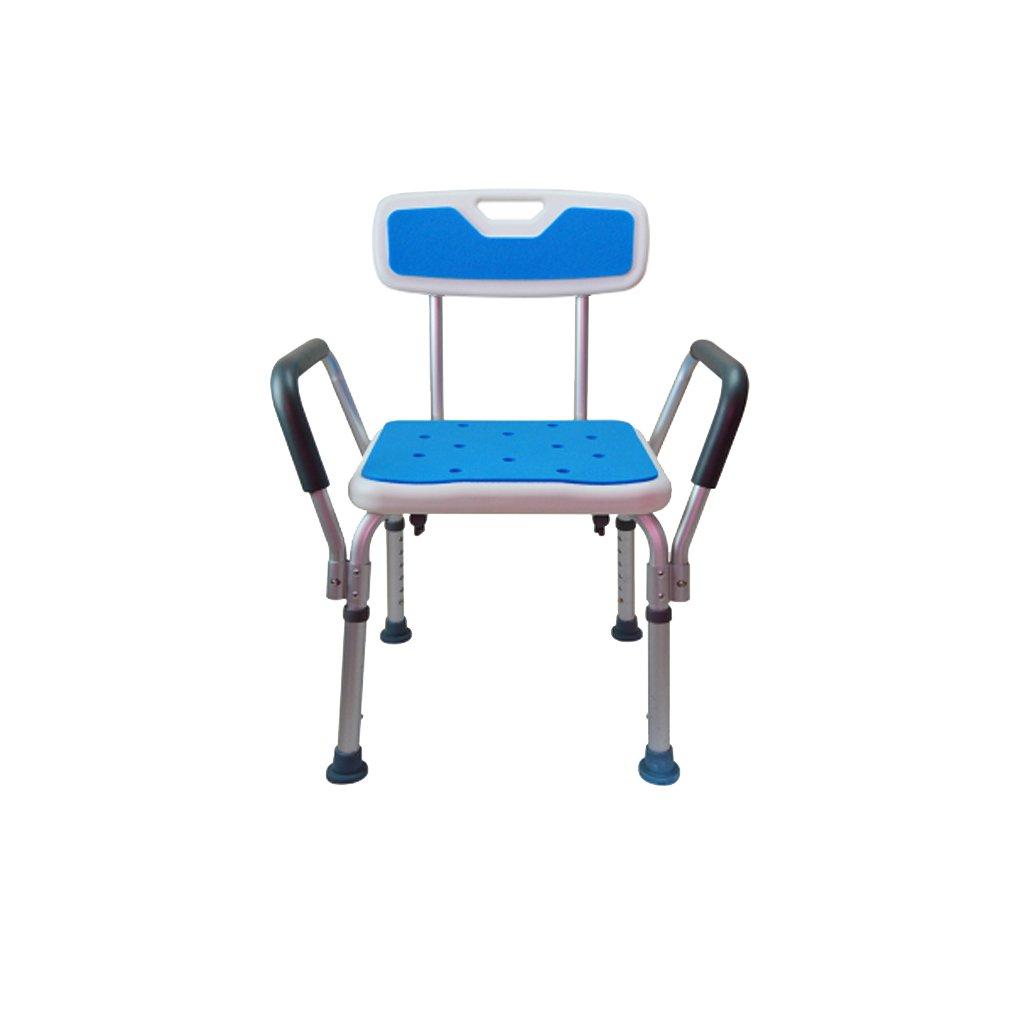 高齢者のための入浴用便器トイレシートノンスリップバスルーム用スツールプラスチック製のパッド付きベンチアダルトシャワー便 (サイズ さいず : D) B07DFHTTWK D  D