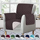 RHF Reversible Chair Cover, Chair Cover, Chair Cover for Dogs, Pet Cover for Chair, Chair Slipcover, Chair Protector, Machine Washable, Double Diamond Quilted (Chair: Chocolate/Beige)
