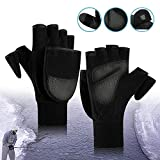 Ice Fishing Gloves Convertible Mittens,Flip Fingerless Mitt Half Fingers Gloves with Insulated Thinsulate |Men Women Winter Hunting & Fishing Apparel Guards for Cold Weather & Photography Running