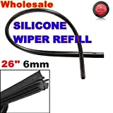 AUDEW Silicone 26 6mm Cut to Size Universal Replacement Wiper Blade Refill Vehicle
