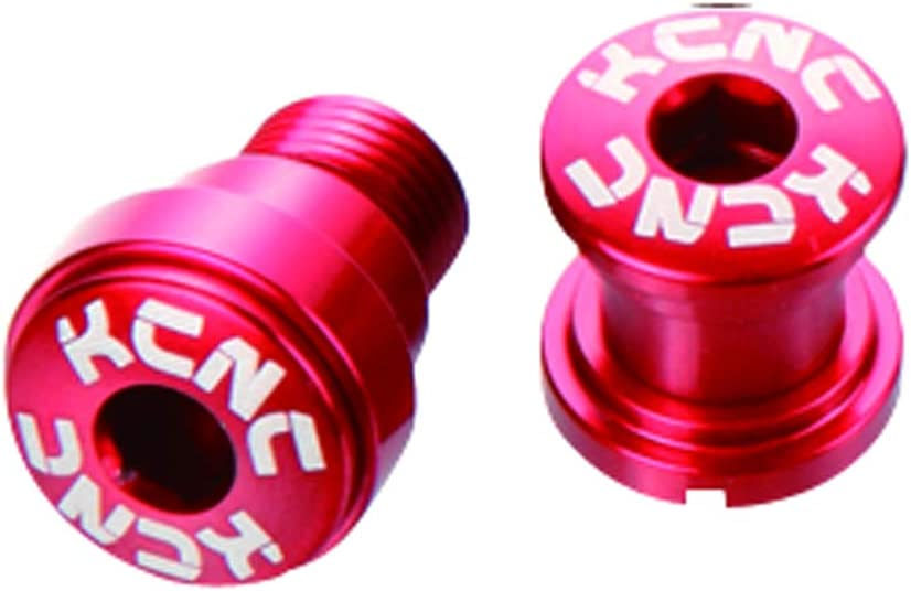 KCNC AL7075 M8.5 x 0.75 Road Bike Bicycle Double Chainring Bolts Screws Red