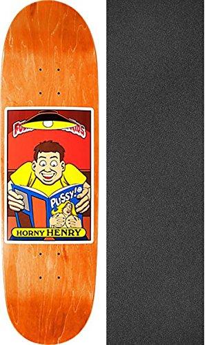 サロン決定する終了しましたブラインドスケートボードHenry Sanchez FUBK Horny Henryスケートボードデッキ – 8.94 X 32 with Jessup Griptape – 2アイテムのバンドル