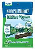 Natural Balance Dental Chews Dog Treats, Fresh & Clean Formula, Grain Free, for Medium Dogs, 13-Ounce