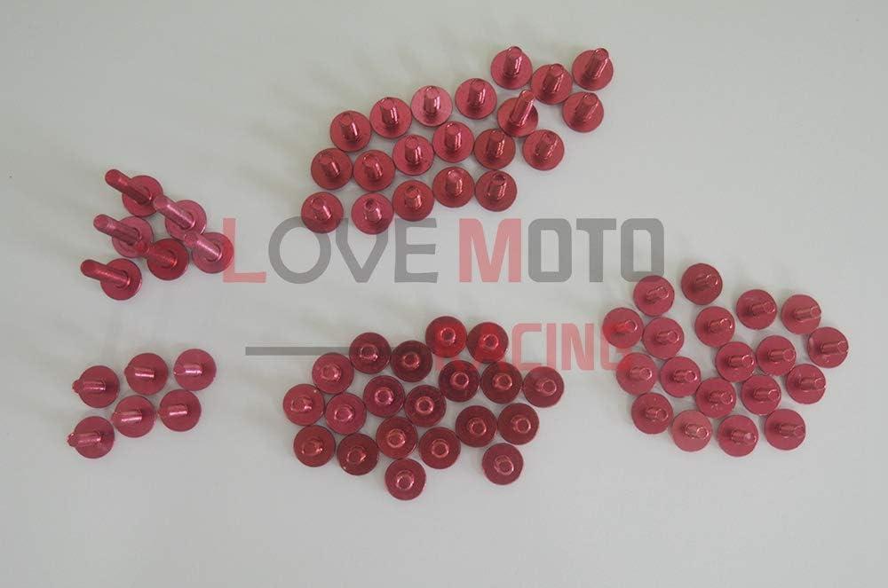 LoveMoto Kompletter Motorrad-Schraubensatz f/ür die Verkleidung YZF 1000 R1 07 08 YZF1000 R1 2007 2008 Alu-Schrauben Befestigungsklammern Blau Silber