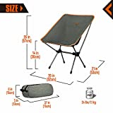 KingCamp Portable Camping Beach Folding Chair Compact Ultralight & 1200D Oxford Heavy Duty Chair 300lbs Weight Capacity, Backpacking Camping Chairs for Hiking, Beach, Concerts, Fishing, Outdoor.