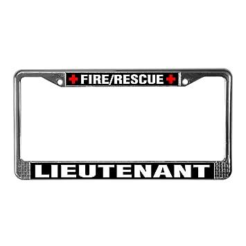 CafePress - bombero teniente etiqueta de matrícula, - Placa de ...